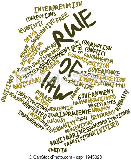abstract word cloud for rule of law with related tags and Justice for All Clip Art Lawyer Clip Art