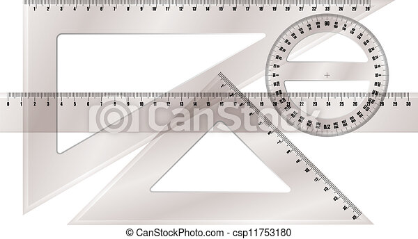 ruler and protractor - csp11753180