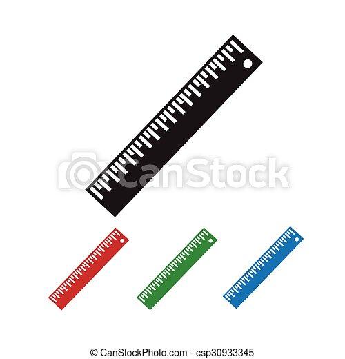 Ruler Icon  - csp30933345