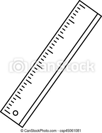Ruler icon, outline style - csp45061081