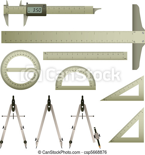 Ruler Mathematics Instrument - csp5668876