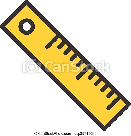 ruler outline icon ruler fully icon with long shadow in eps rh canstockphoto com clip art roller skating clip art ruler with inches