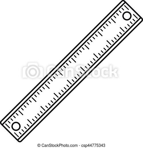 Ruler, rectangular shape icon, outline style - csp44775343