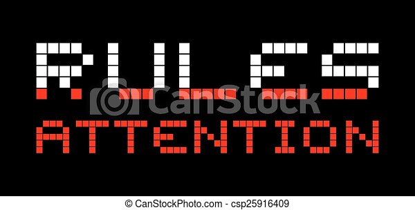 Rules attention - csp25916409