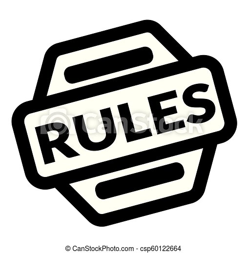 rules black stamp - csp60122664