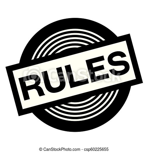 rules black stamp - csp60225655