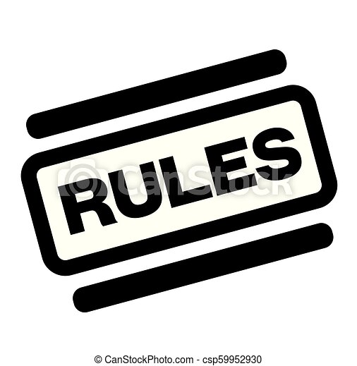 rules black stamp - csp59952930