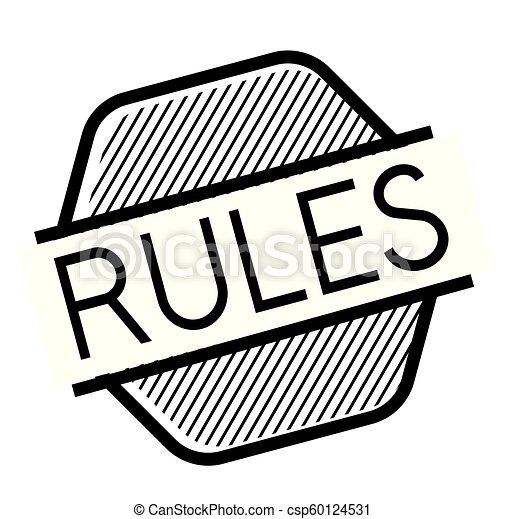 rules black stamp - csp60124531