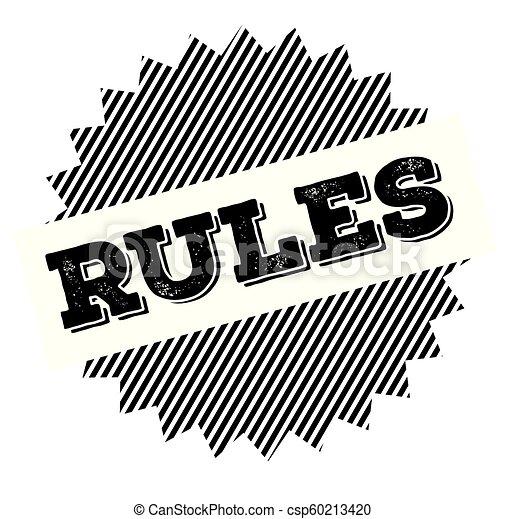 rules black stamp - csp60213420