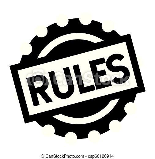 rules black stamp - csp60126914