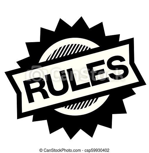 rules black stamp - csp59930402