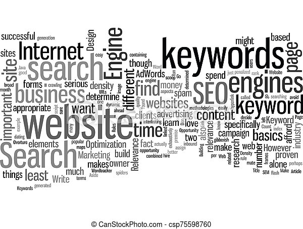 Rules In SEO text background wordcloud concept - csp75598760
