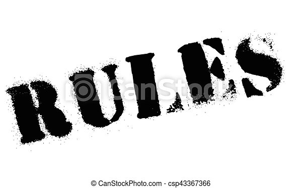 Rules stamp rubber grunge - csp43367366