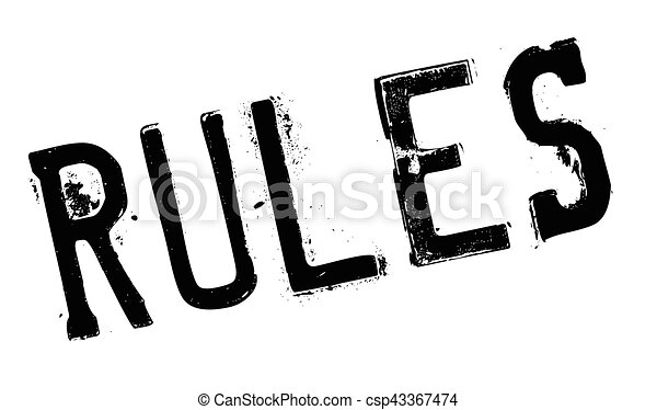 Rules stamp rubber grunge - csp43367474