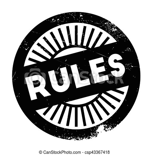 Rules stamp rubber grunge - csp43367418