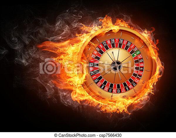 La ruleta del casino - csp7566430