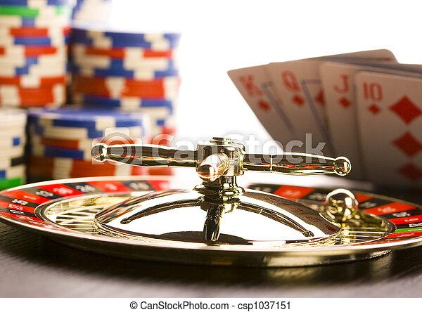 Casino, ruleta y papas fritas - csp1037151