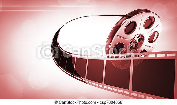rulle, film, bakgrund - csp7804056