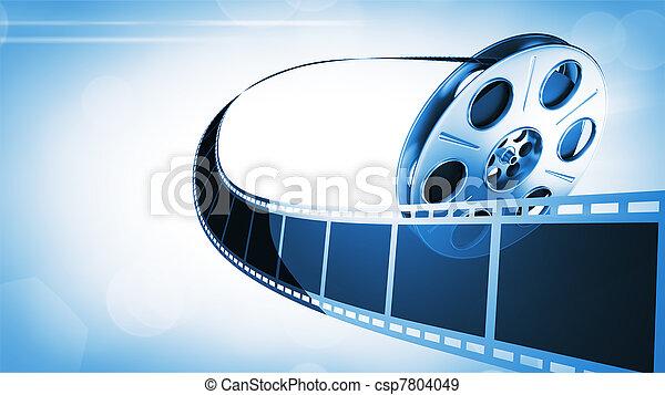rulle, film, bakgrund - csp7804049