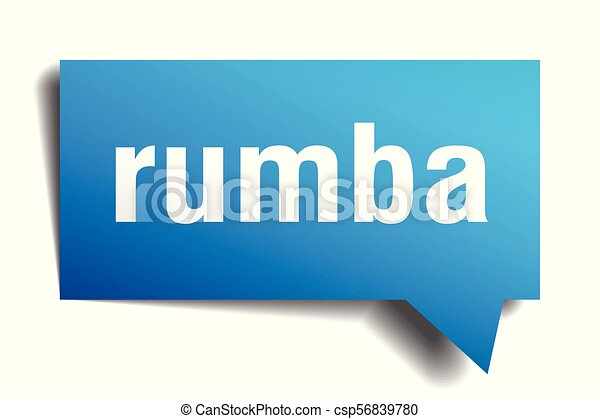 rumba blue 3d speech bubble - csp56839780