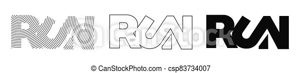 Run calligraphic text vector illustration design. - csp83734007