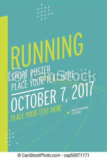 Run championship poster design template. - csp50871171