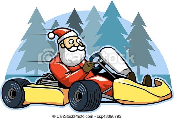 Run Fast Go Karting Santa - csp43090793