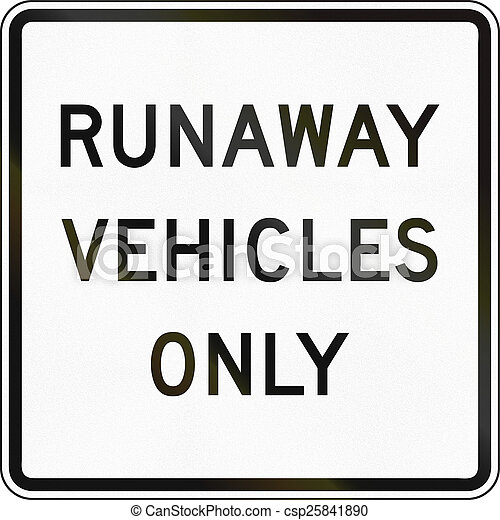 Runaway Vehicles Only - csp25841890