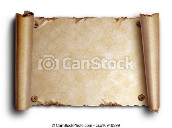 rundat, fingernagel, bryn, papper, gammal, rulla - csp10948399