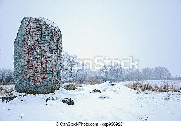 Rune stone - csp9369281