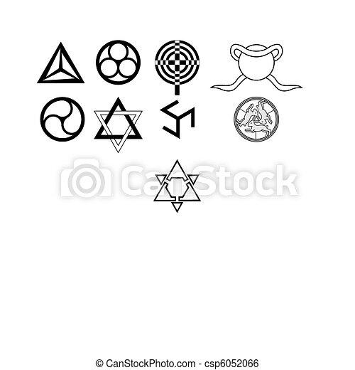 Runes Occult Symbols Runes And Occult Symbols Isolated On White