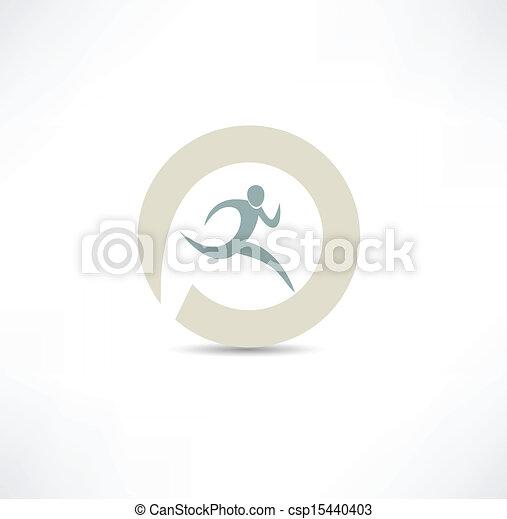 runner icon - csp15440403