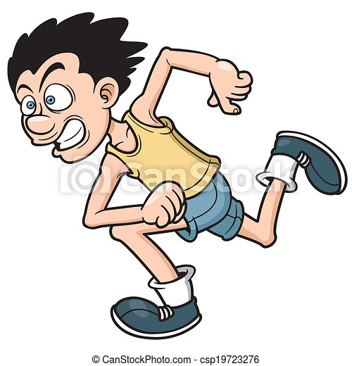 Runner man - csp19723276