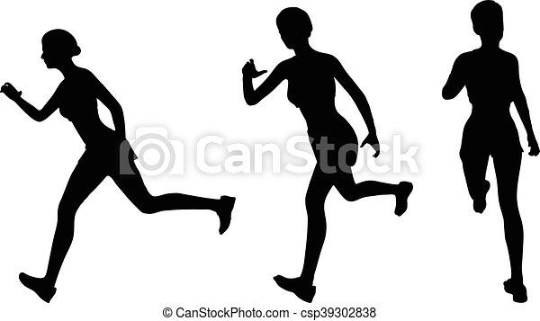 eps 10 vector illustration of runner silhouette vectors search rh canstockphoto com runner silhouette vector free woman runner silhouette vector free
