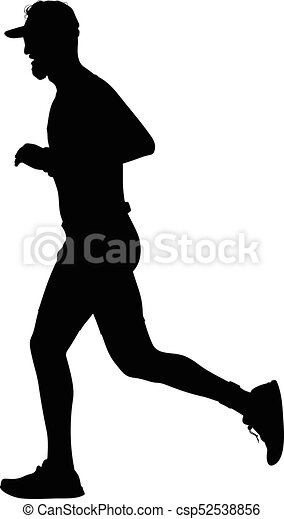 runner silhouette run vector clipart vector search illustration rh canstockphoto com female runner silhouette vector road runner vector silhouette