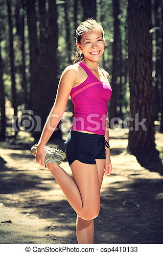 Runner stretching out during workout - csp4410133