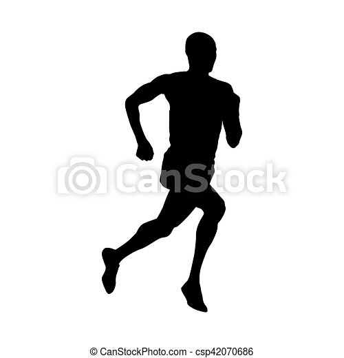 runner vector silhouette vector search clip art illustration rh canstockphoto com runner vector free download runner vector icon