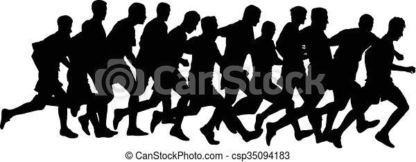 runners - csp35094183