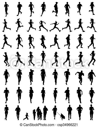 runners - csp34966221