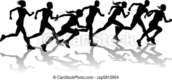 Runners racing - csp5812954