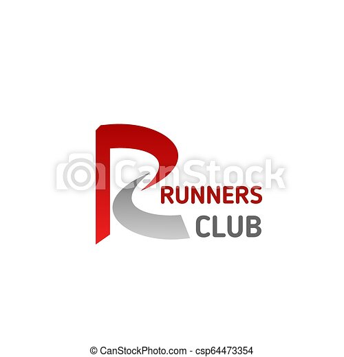 5fd23f81 Runners sport club letter r vector icon. Letter r icon for runners ...