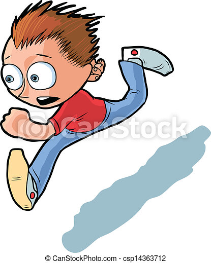 running boy vector cartoon vector cartoon of running boy he looks rh canstockphoto com boy running fast clipart boy running fast clipart