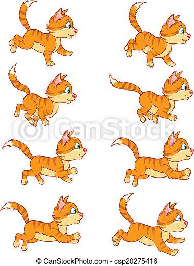 Free Clip Art Cat Run