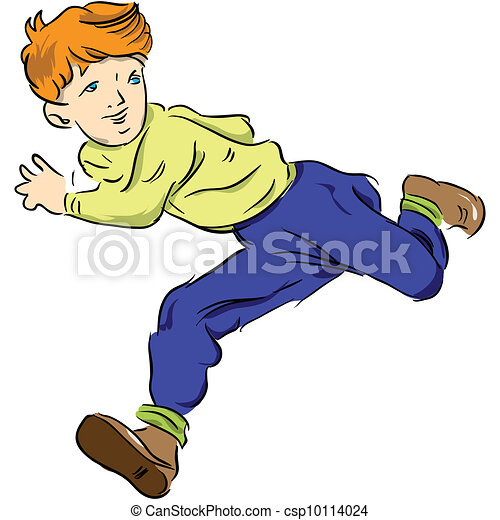 running child the boy runs and looks away vector clip art rh canstockphoto com boy girl running clipart boy running fast clipart