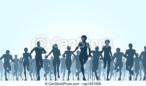 Running crowd - csp1421908