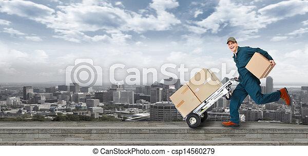 Running Delivery postman. - csp14560279
