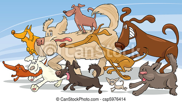 Running dogs - csp5976414