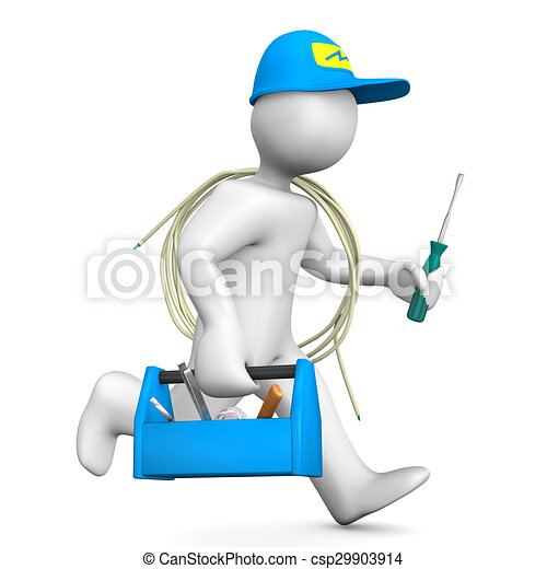 Running Electrician - csp29903914