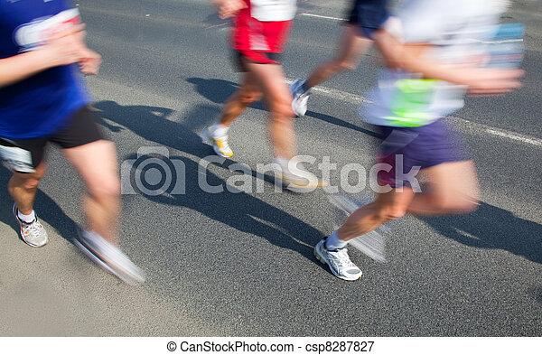 Running fast, marathon - csp8287827