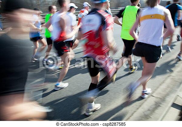 Running fast, marathon - csp8287585
